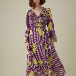 KAREN MILLEN Geometric Floral Maxi Dress